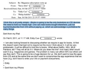 Steve Jobs saboteó la aplicación Amazon Kindle en iOS