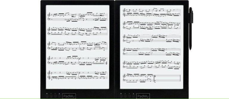 Un lector de pantalla dual para músicos