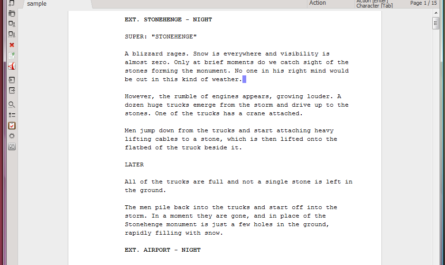 Trelby (software para escritores 8/8)