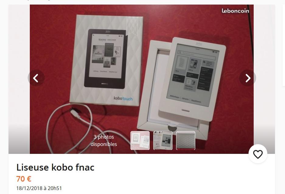 Un Kobo Touch usado un poco caro