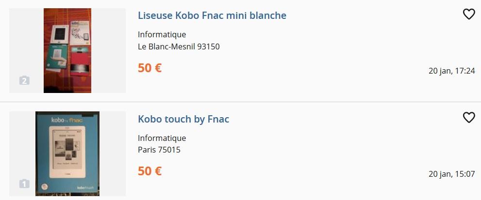 libro electrónico kobo desde 50 euros