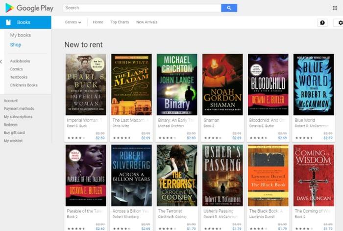 alquiler de libros de google play