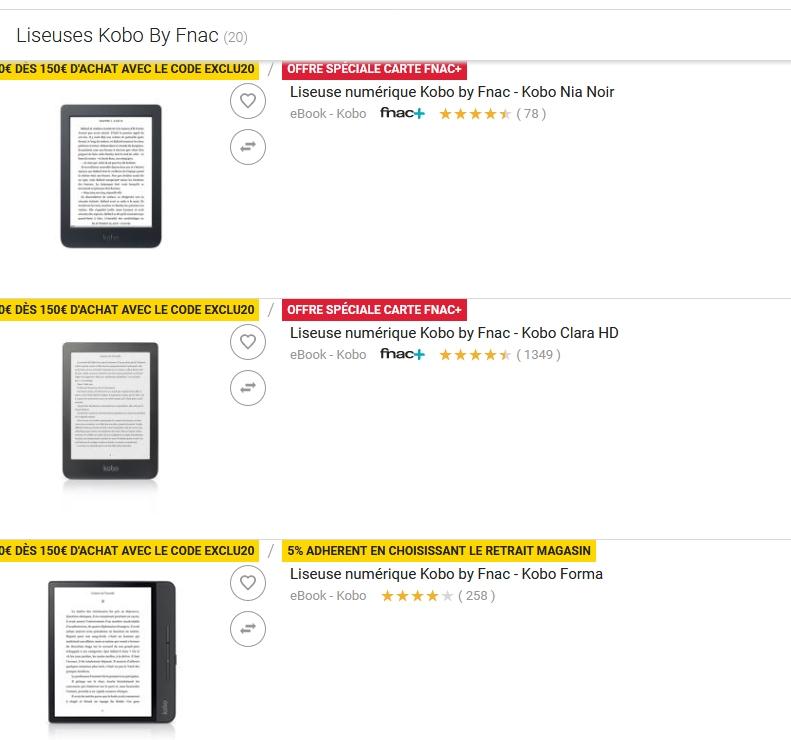 ventas de fnac 2021 lectores electrónicos kobo