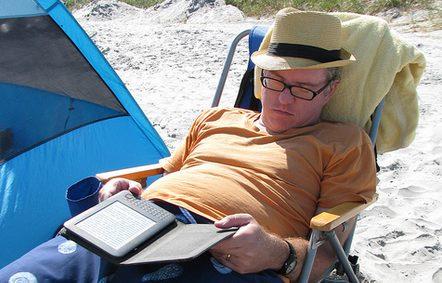 e-reader de vacaciones