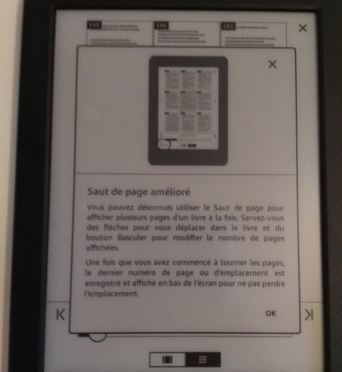 Salto de página mejorado de Kindle
