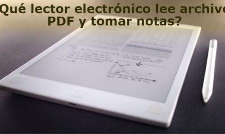 ¿Qué Ebook usar para leer archivos PDF y tomar notas?