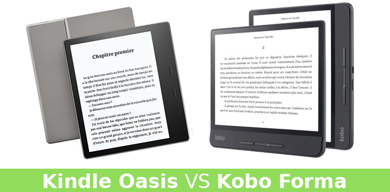 Kobo Forma vs Kindle Oasis (2019)