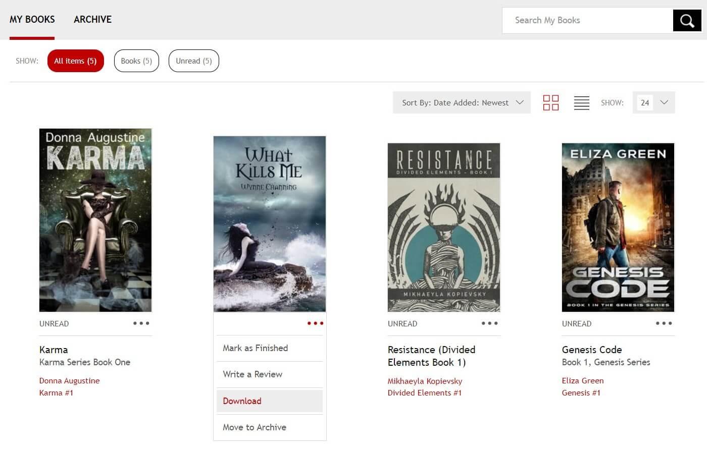 Descarga los libros de Kobo del sitio web oficial de Kobo