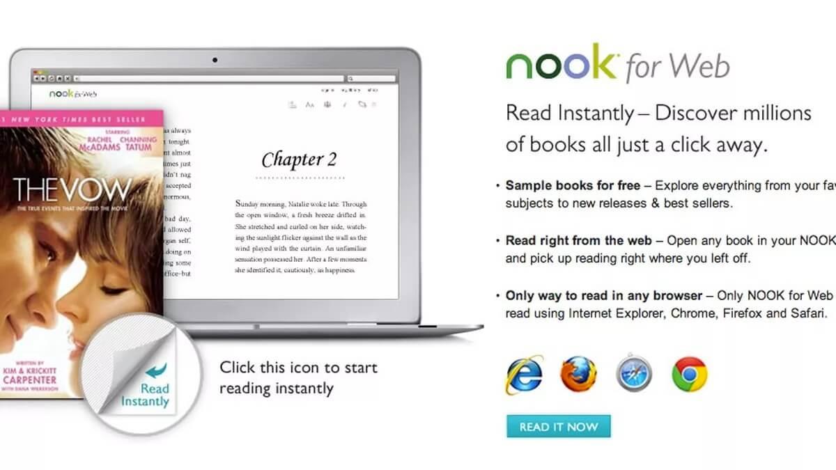Use NOOK for Web para leer en una Mac