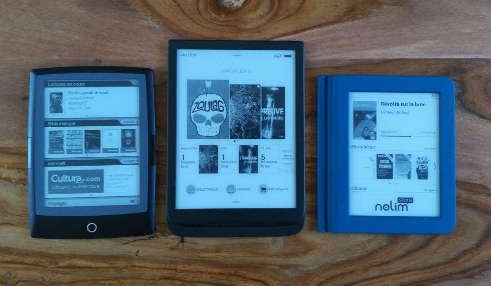 comparación de la pantalla del libro electrónico