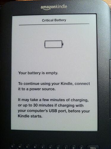 Error crítico de batería del Kindle